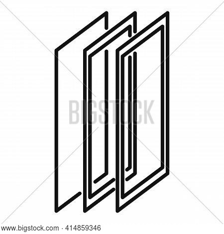 Strong Protective Glass Icon. Outline Strong Protective Glass Vector Icon For Web Design Isolated On