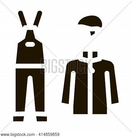 Alpinism Clothes Glyph Icon Vector. Alpinism Clothes Sign. Isolated Symbol Illustration