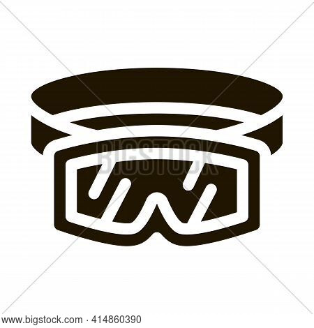 Skier Protective Glasses Glyph Icon Vector. Skier Protective Glasses Sign. Isolated Symbol Illustrat
