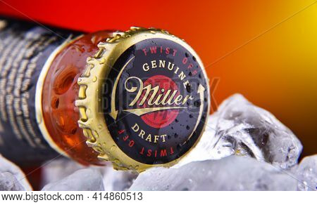 Crown Cap On A Miller Genuine Draft Bottle