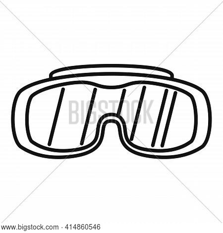 Work Protective Glasses Icon. Outline Work Protective Glasses Vector Icon For Web Design Isolated On