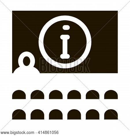 Lector Information Blackboard Glyph Icon Vector. Lector Information Blackboard Sign. Isolated Symbol