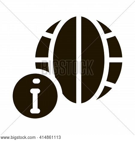 Worldwide Information Glyph Icon Vector. Worldwide Information Sign. Isolated Symbol Illustration