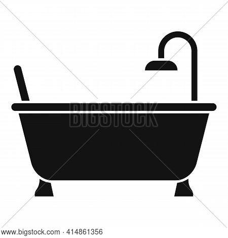 Bath Tub Icon. Simple Illustration Of Bath Tub Vector Icon For Web Design Isolated On White Backgrou