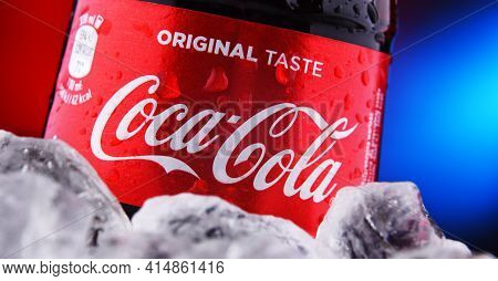 Bottle Of Coca-cola In Crushed Ice