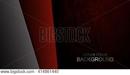 Red Dark Design With Velvet Effect, Textured Slanting Curtains.