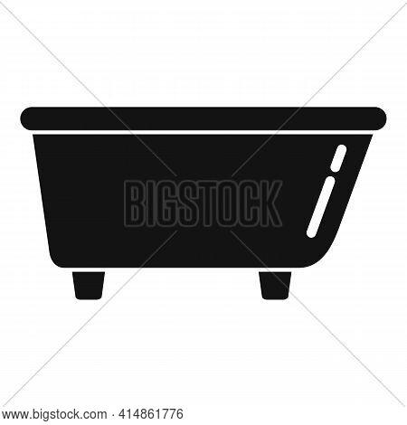 Ceramic Bath Tub Icon. Simple Illustration Of Ceramic Bath Tub Vector Icon For Web Design Isolated O