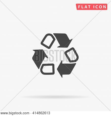 Recycling Flat Vector Icon. Hand Drawn Style Design Illustrations.