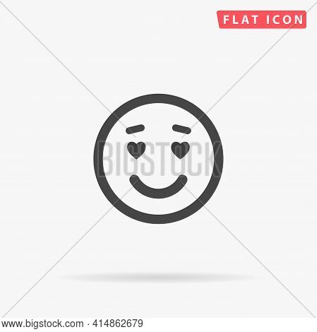 Lover Face Flat Vector Icon. Hand Drawn Style Design Illustrations.