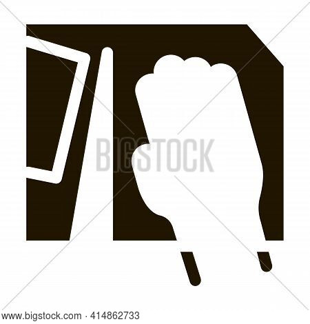 Leatherworker Make Holes Glyph Icon Vector. Leatherworker Make Holes Sign. Isolated Symbol Illustrat