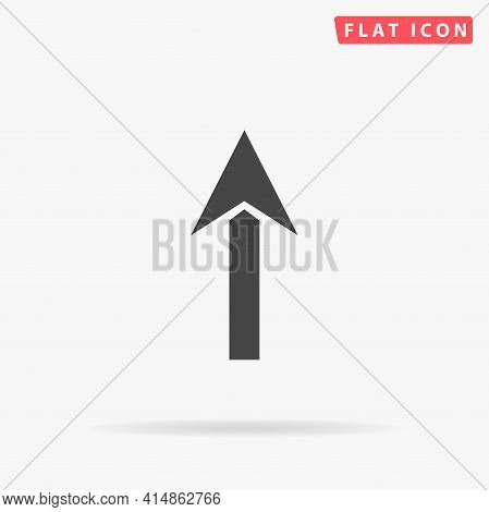 Up Arrow Flat Vector Icon. Hand Drawn Style Design Illustrations.