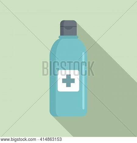 Antiseptic Bottle Icon. Flat Illustration Of Antiseptic Bottle Vector Icon For Web Design