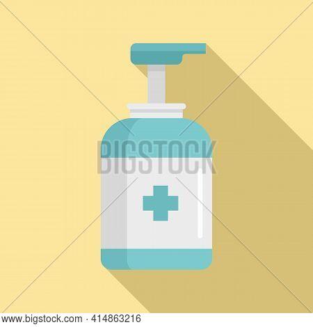 Antiseptic Dispenser Icon. Flat Illustration Of Antiseptic Dispenser Vector Icon For Web Design
