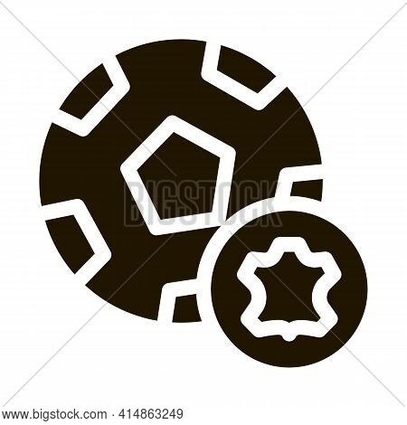 Leather Soccer Ball Glyph Icon Vector. Leather Soccer Ball Sign. Isolated Symbol Illustration