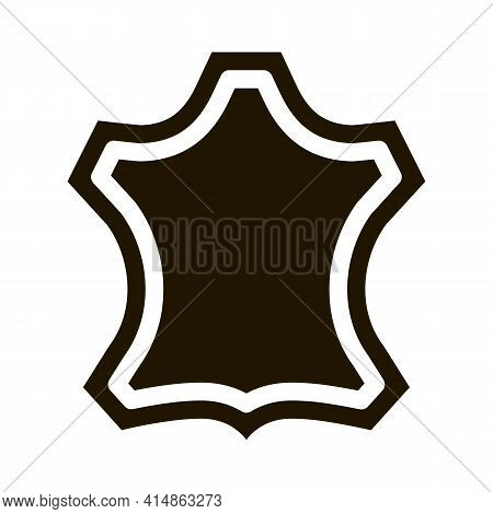 Leather Label Glyph Icon Vector. Leather Label Sign. Isolated Symbol Illustration