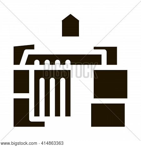 Homeless Cardboard House Glyph Icon Vector. Homeless Cardboard House Sign. Isolated Symbol Illustrat