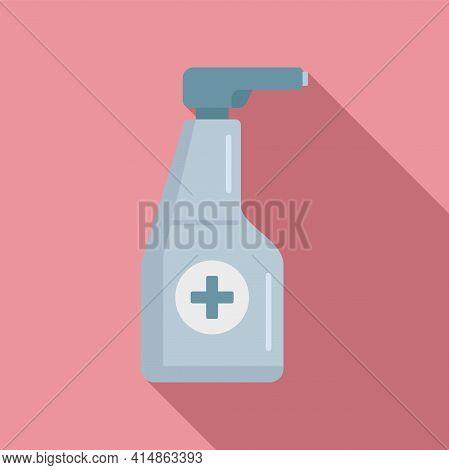 Antiseptic Spray Bottle Icon. Flat Illustration Of Antiseptic Spray Bottle Vector Icon For Web Desig