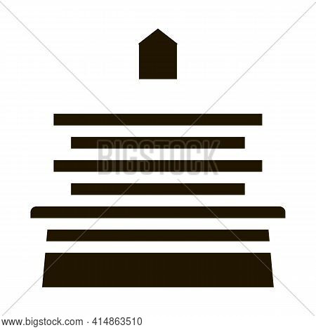 Bench Homeless Home Glyph Icon Vector. Bench Homeless Home Sign. Isolated Symbol Illustration