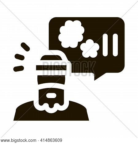 Homeless Swearing Glyph Icon Vector. Homeless Swearing Sign. Isolated Symbol Illustration