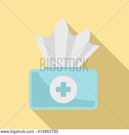 Antiseptic Medical Napkin Icon. Flat Illustration Of Antiseptic Medical Napkin Vector Icon For Web D