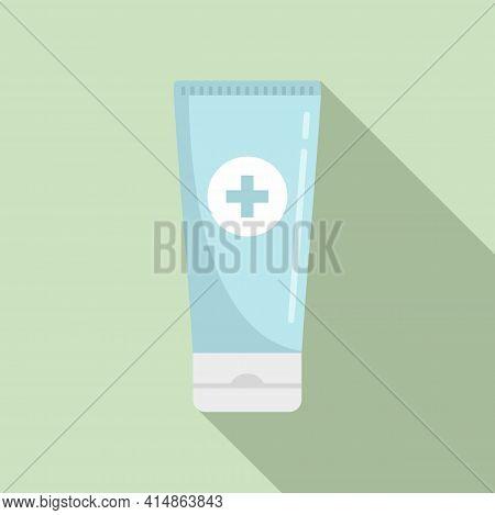 Antiseptic Gel Tube Icon. Flat Illustration Of Antiseptic Gel Tube Vector Icon For Web Design