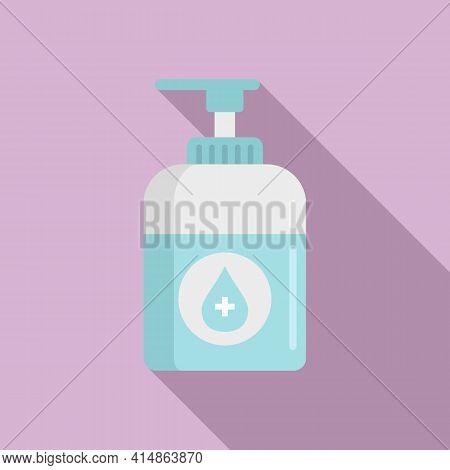 Corona Virus Antiseptic Icon. Flat Illustration Of Corona Virus Antiseptic Vector Icon For Web Desig