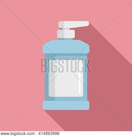 Coronavirus Dispenser Antiseptic Icon. Flat Illustration Of Coronavirus Dispenser Antiseptic Vector