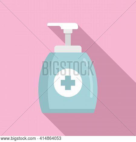 Apply Antiseptic Bottle Icon. Flat Illustration Of Apply Antiseptic Bottle Vector Icon For Web Desig