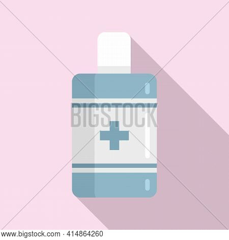Immune Antiseptic Icon. Flat Illustration Of Immune Antiseptic Vector Icon For Web Design