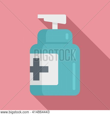 Pump Antiseptic Icon. Flat Illustration Of Pump Antiseptic Vector Icon For Web Design