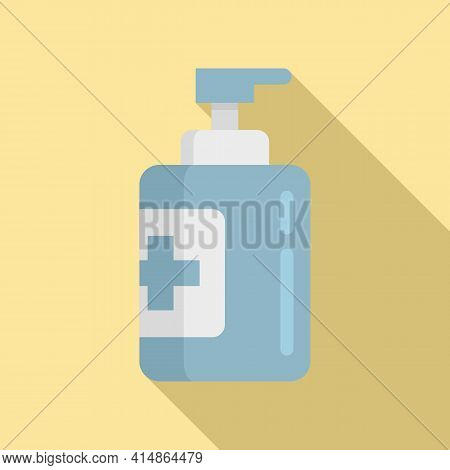 Bacteria Antiseptic Icon. Flat Illustration Of Bacteria Antiseptic Vector Icon For Web Design