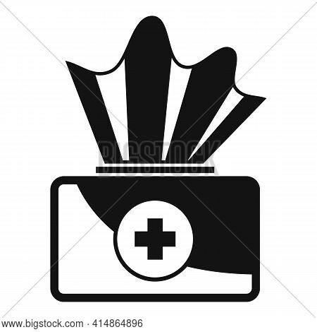 Antiseptic Medical Napkin Icon. Simple Illustration Of Antiseptic Medical Napkin Vector Icon For Web