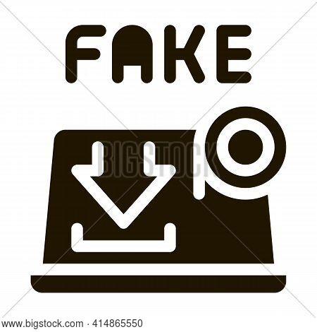 Deepfake Human Profile Glyph Icon Vector. Deepfake Human Profile Sign. Isolated Symbol Illustration