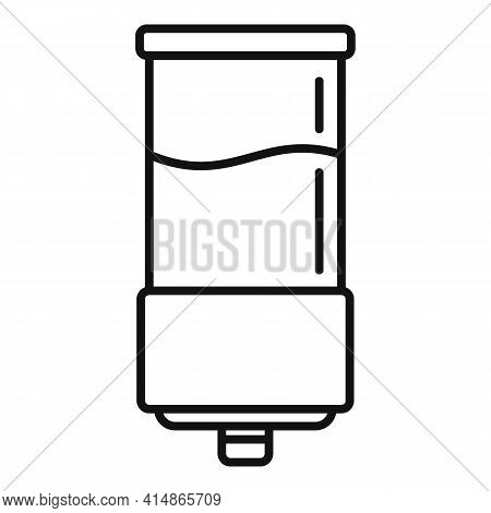Gel Wall Dispenser Icon. Outline Gel Wall Dispenser Vector Icon For Web Design Isolated On White Bac
