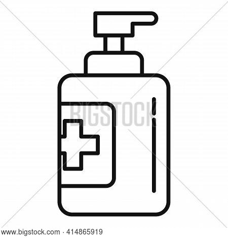 Antiseptic Hand Clean Icon. Outline Antiseptic Hand Clean Vector Icon For Web Design Isolated On Whi