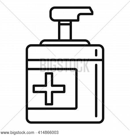 Bacteria Antiseptic Icon. Outline Bacteria Antiseptic Vector Icon For Web Design Isolated On White B