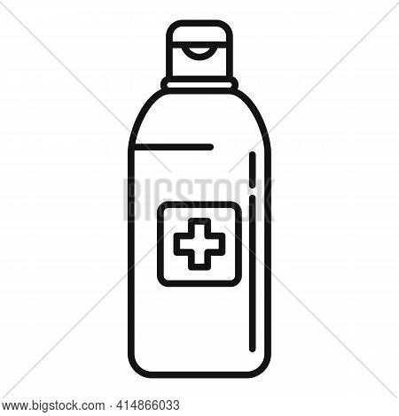 Antiseptic Bottle Icon. Outline Antiseptic Bottle Vector Icon For Web Design Isolated On White Backg
