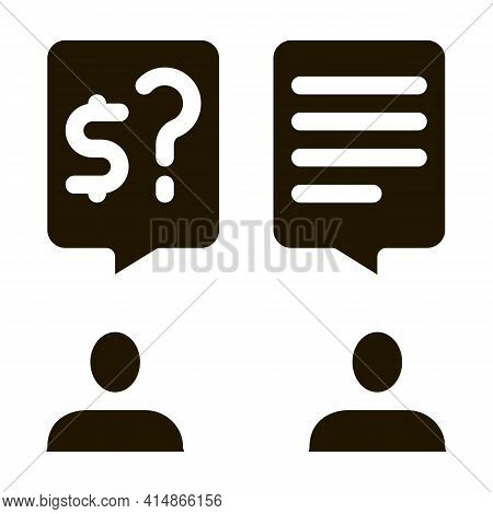 Businessmen Agree Payment Glyph Icon Vector. Businessmen Agree Payment Sign. Isolated Symbol Illustr