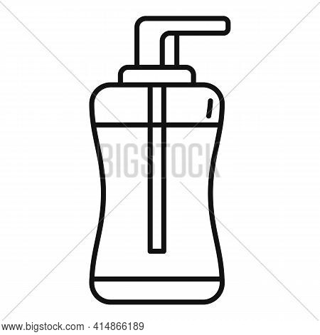 Antiseptic Gel Icon. Outline Antiseptic Gel Vector Icon For Web Design Isolated On White Background