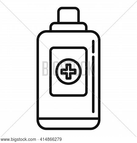 Antiseptic Alcohol Icon. Outline Antiseptic Alcohol Vector Icon For Web Design Isolated On White Bac