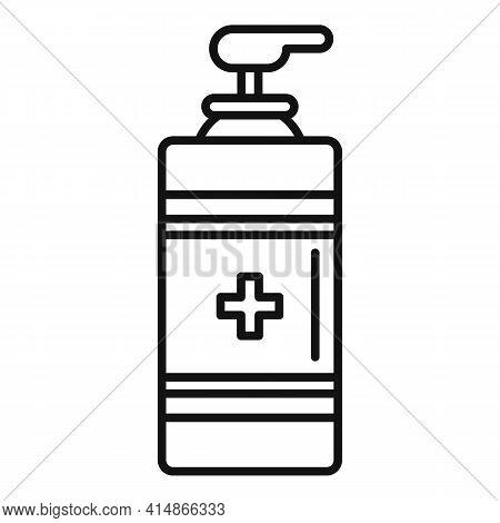 Antiseptic Gel Dispenser Icon. Outline Antiseptic Gel Dispenser Vector Icon For Web Design Isolated