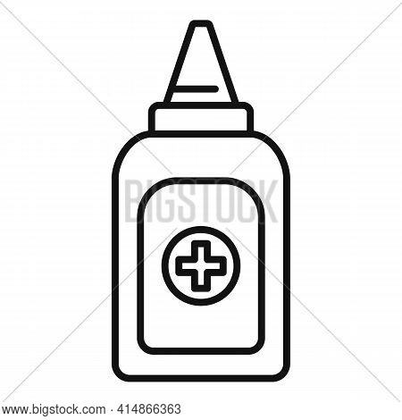 Antiseptic Hand Drop Icon. Outline Antiseptic Hand Drop Vector Icon For Web Design Isolated On White