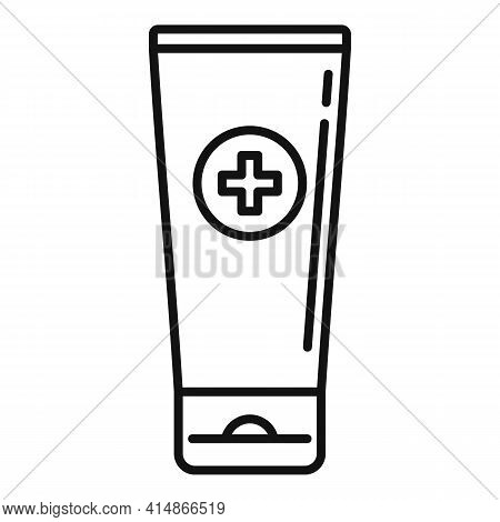 Antiseptic Gel Tube Icon. Outline Antiseptic Gel Tube Vector Icon For Web Design Isolated On White B
