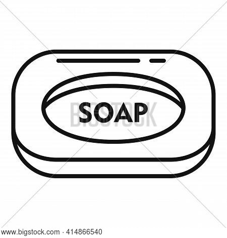 Antiseptic Soap Icon. Outline Antiseptic Soap Vector Icon For Web Design Isolated On White Backgroun