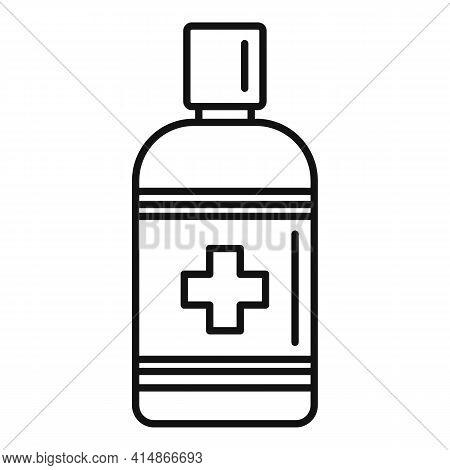 Antiseptic Hygiene Icon. Outline Antiseptic Hygiene Vector Icon For Web Design Isolated On White Bac