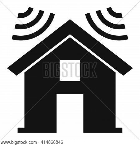 Soundproofing House Roof Icon. Simple Illustration Of Soundproofing House Roof Vector Icon For Web D