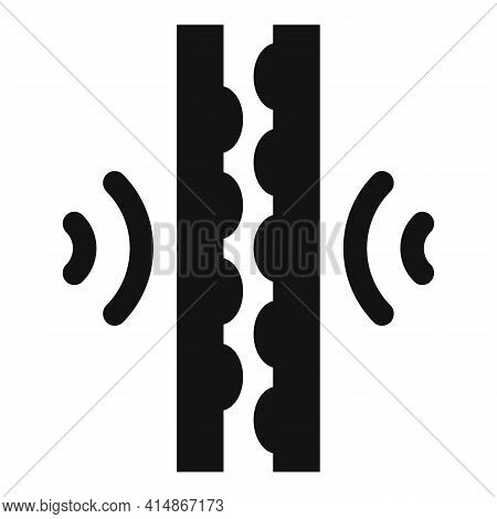 Soundproofing Audio Reflection Icon. Simple Illustration Of Soundproofing Audio Reflection Vector Ic
