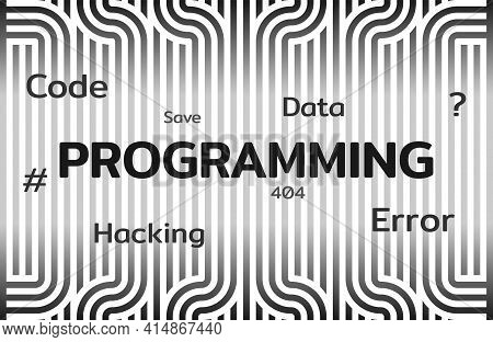 The Concept Programming. Application Development, Freelance, Remote Work, Network Security. Vector E