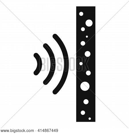 Foam Soundproof Wall Icon. Simple Illustration Of Foam Soundproof Wall Vector Icon For Web Design Is