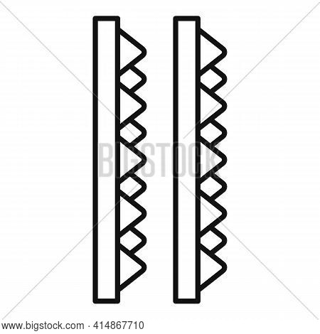 Soundproofing Foam Icon. Outline Soundproofing Foam Vector Icon For Web Design Isolated On White Bac